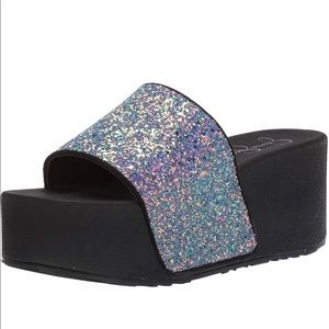Jessica Simpson Multi-Color Glitter Platforms 9